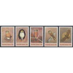 Norfolk - 1984 - Nb 335/339 - Birds - Endangered species - WWF