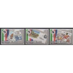 Norfolk - 1984 - Nb 340/342 - Stamps on stamps