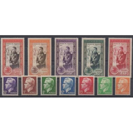 Monaco - année complète - 1950 - No 338/350