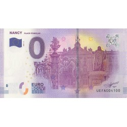 Billet souvenir - Nancy - Place Stanislas - 2017-2 - No 4100