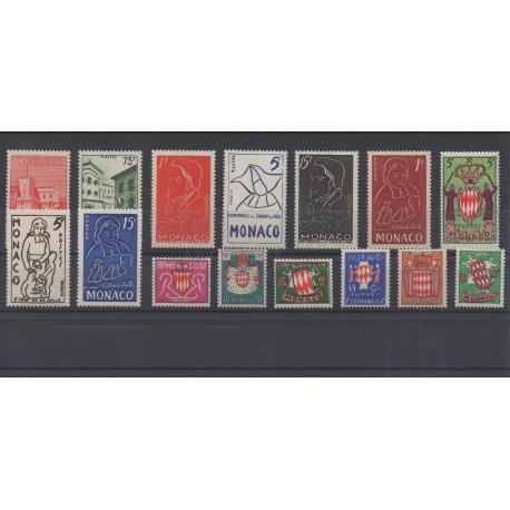 Monaco - année complète - 1954 - No 397/411