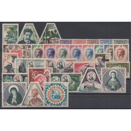 Monaco - complete year - 1955 - Nb 412/440