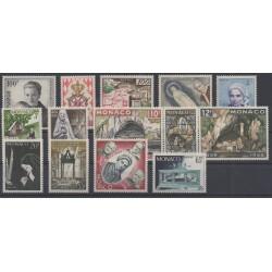 Monaco - année complète - 1958 - No 489/502
