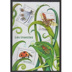 France - Blocks and sheets - 2017 - Nb F5148 - Insects
