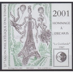 France - Feuillets CNEP - 2001 - No CNEP 34 - Art