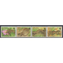 Norfolk - 1996 - No 593/596 - Reptiles - Espèces menacées - WWF