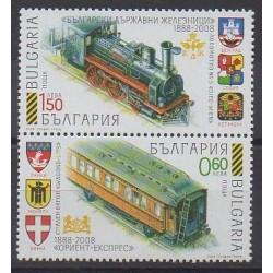 Bulgarie - 2008 - No 4191/4192 - Chemins de fer
