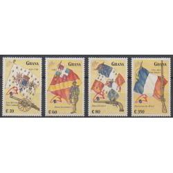 Ghana - 1989 - No 996/999 - Drapeaux - Histoire militaire