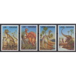 Ghana - 1992 - No 1393/1396 - Animaux préhistoriques