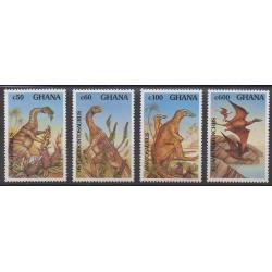 Ghana - 1992 - No 1334/1337 - Animaux préhistoriques