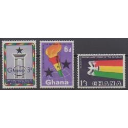 Ghana - 1962 - Nb 113/115 - Various Historics Themes