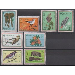 Ghana - 1965 - No 181/188 - Animaux