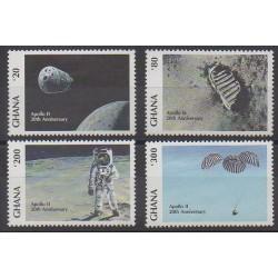 Ghana - 1989 - Nb 1072/1075 - Space
