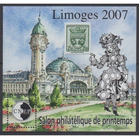 France - CNEP Sheets - 2007 - Nb CNEP 48 - Monuments - Stamps on stamps