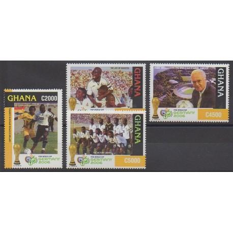 Timbres ghana 2006 no 3143 3146 coupe du monde de football - Coupe du monde de football 2006 ...