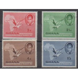 Ghana - 1957 - Nb 10/13 - Various Historics Themes