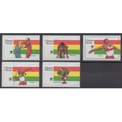 Ghana - 1988 - No 955/959 - Jeux Olympiques d'été