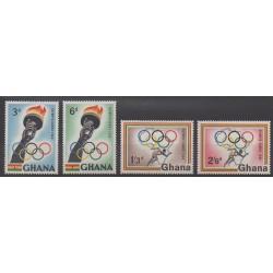 Ghana - 1960 - No 75/78 - Jeux Olympiques d'été
