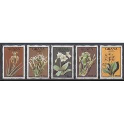 Ghana - 1991 - Nb 1256/1260 - Flowers