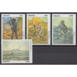 Ghana - 1991 - No 1269/1272 - Peinture
