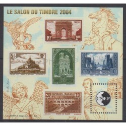 France - CNEP Sheets - 2004 - Nb CNEP 41 - Stamps on stamps