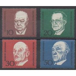Allemagne occidentale (RFA) - 1968 - No 419/422 - Célébrités