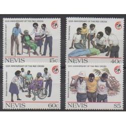 Nevis - 1988 - No 491/494 - Santé ou Croix-Rouge