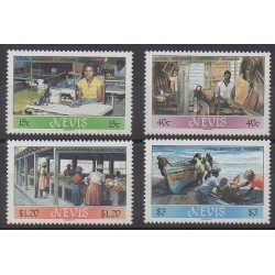 Nevis - 1986 - Nb 399/402 - Craft