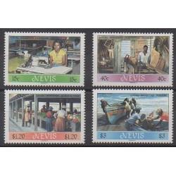Nevis - 1986 - No 399/402 - Artisanat ou métiers