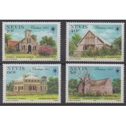 Nevis - 1985 - No 349/352 - Églises - Noël