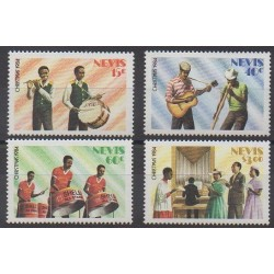 Nevis - 1984 - No 229/232 - Musique - Noël