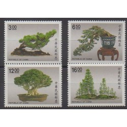 Formosa (Taiwan) - 1990 - Nb 1850/1853 - Trees