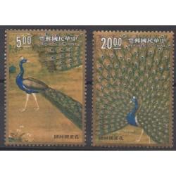 Formose (Taïwan) - 1991 - No 1944/1945 - Oiseaux - Peinture