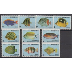 Formose (Taïwan) - 1986 - No 1626/1635 - Animaux marins