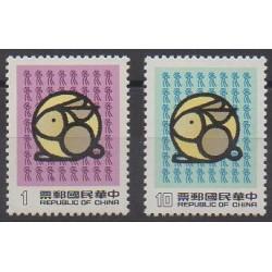 Formosa (Taiwan) - 1986 - Nb 1665/1666 - Horoscope