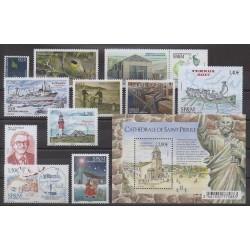 Année complète des timbres de Saint-Pierre et Miquelon de 2017