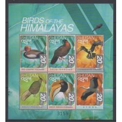 Bhoutan - 1999 - No 1476U/1476Z - Oiseaux