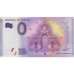 Billet souvenir - Mémorial de Thiepval - 2015