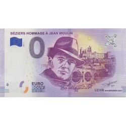 Euro bankenote memory - 34 - Béziers Hommage à Jean Moulin - 2018-2