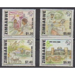 Zimbabwe - 1999 - No 399/402 - Service postal - Philatélie