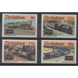Zimbabwe - 1985 - No 77/80 - Chemins de fer