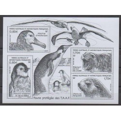 French Southern and Antarctic Lands - Blocks and sheets - 2018 - Nb F859 - Animals - Endangered species - WWF