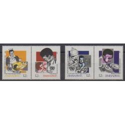 Zimbabwe - 1987 - No 130/133 - Santé ou Croix-Rouge - Enfance