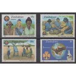 Zimbabwe - 1987 - No 138/141 - Scoutisme
