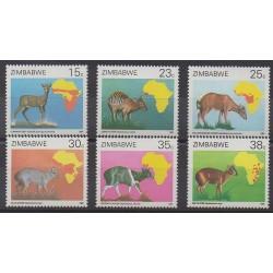 Zimbabwe - 1987 - No 142/147 - Mammifères