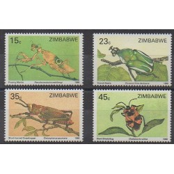 Zimbabwe - 1988 - No 148/151 - Insectes