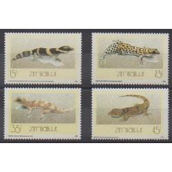 Zimbabwe - 1989 - No 170/173 - Reptiles