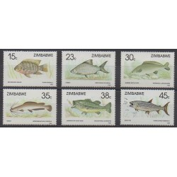 Zimbabwe - 1989 - Nb 180/185 - Sea animals