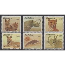 Zimbabwe - 1989 - No 186/191 - Mammifères