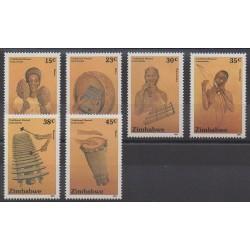 Zimbabwe - 1991 - Nb 228/233 - Music